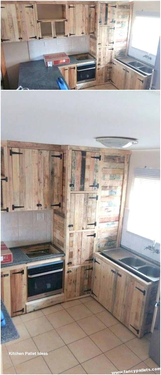 Kitchen Diy Pallet Design Ideas Best Diy Lists Pallet Kitchen Cabinets Wood Furniture Diy Diy Kitchen Cabinets
