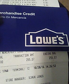 lowes home improvement. gift card | letgo | Pinterest | Lowes and Gift