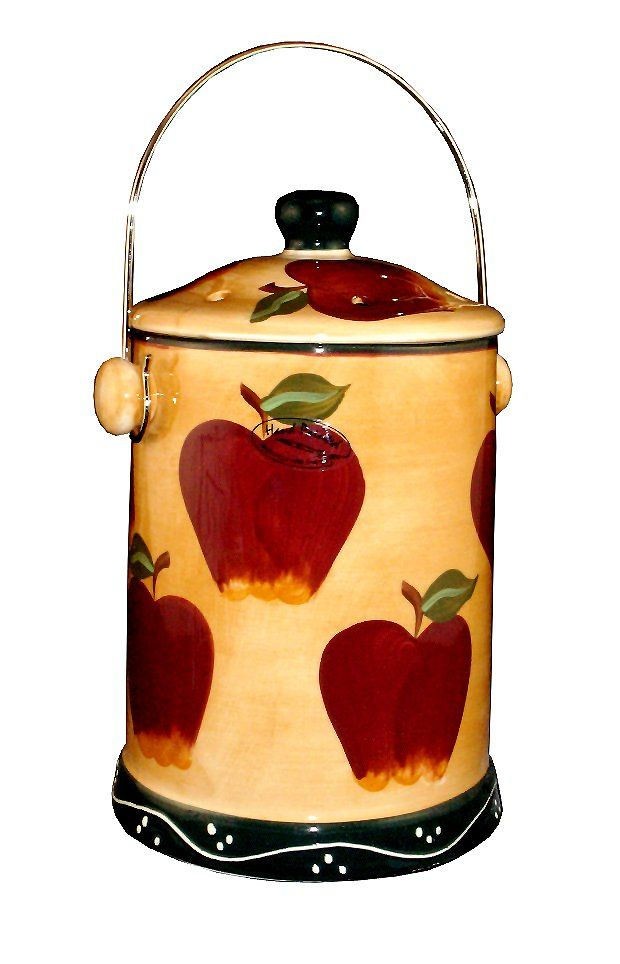 Apple decor images google search apple decor apple kitchen decor apple decorations for Home interiors apple orchard collection