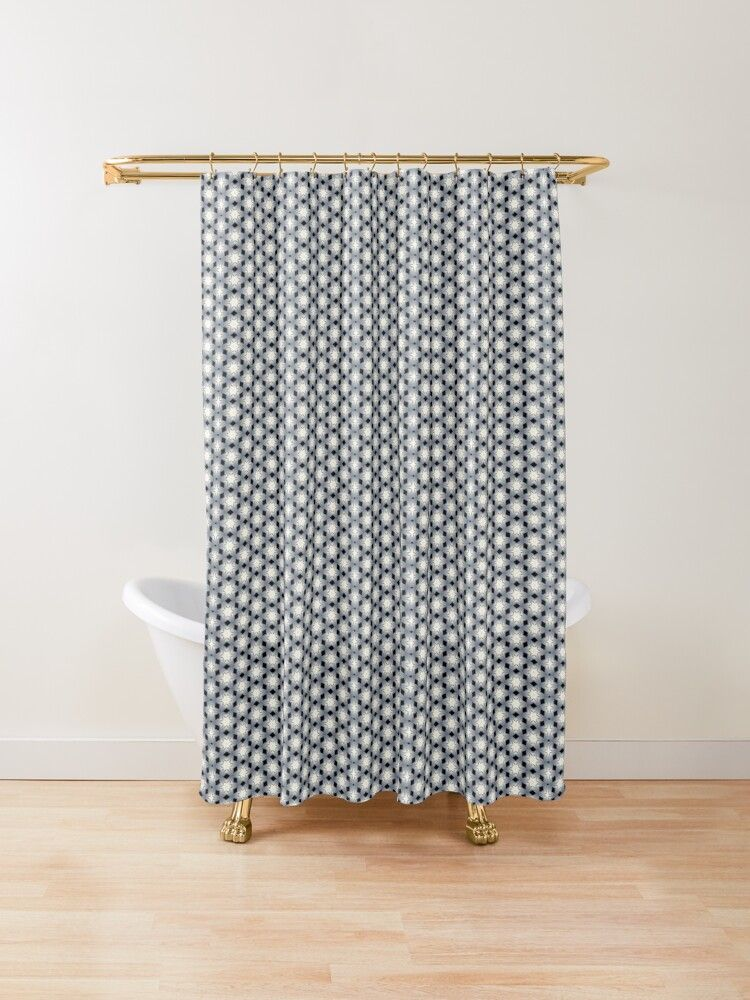 Stars Diamonds Pattern Shower Curtain By Patcy Design