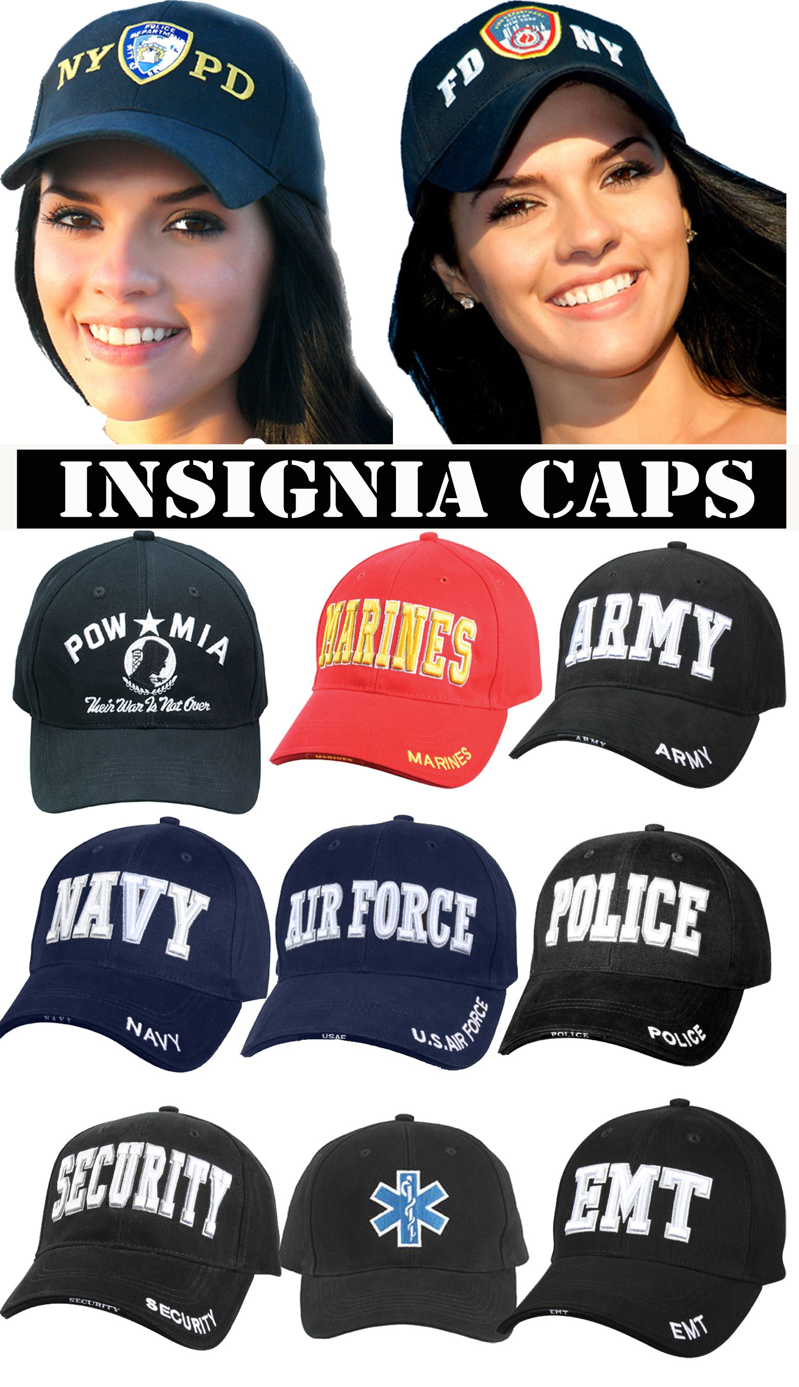 Shop http://www.bdus.com for insignia caps. NYPD Official and Military baseball caps