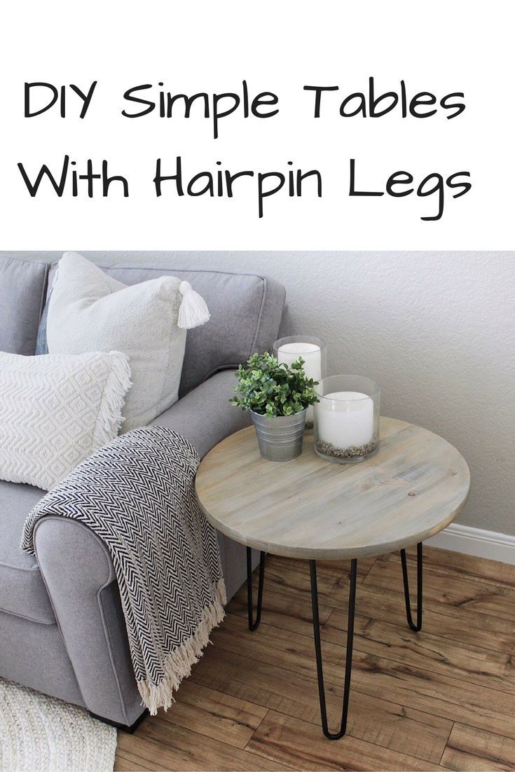 DIY Project: How to Make your own Hairpin Tables | Domestic Blonde