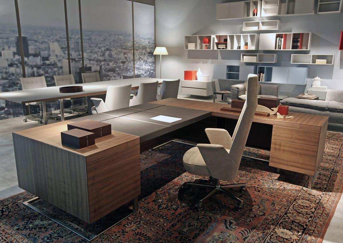 Deck Leader Executive Desk Large Desk Wood And Metal