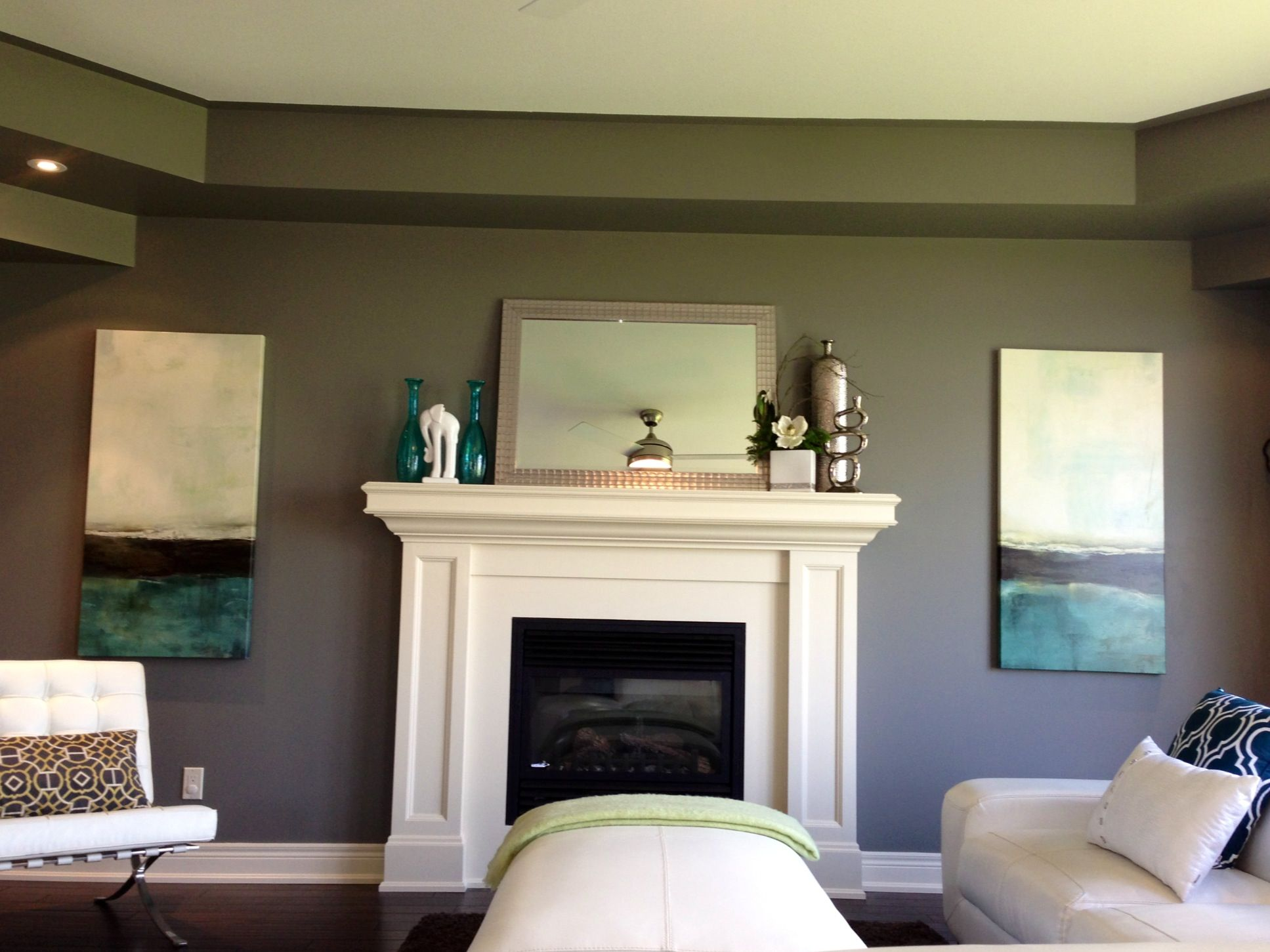 Chelsea Grey Accented With Blue Grey Room Room Colors Living