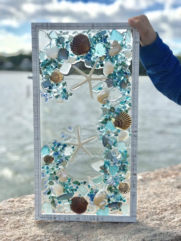 Beach glass Coastal Window 21