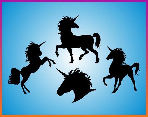Unicorn Silhouette Svg Unicorn Head SVG cutting file unicorn