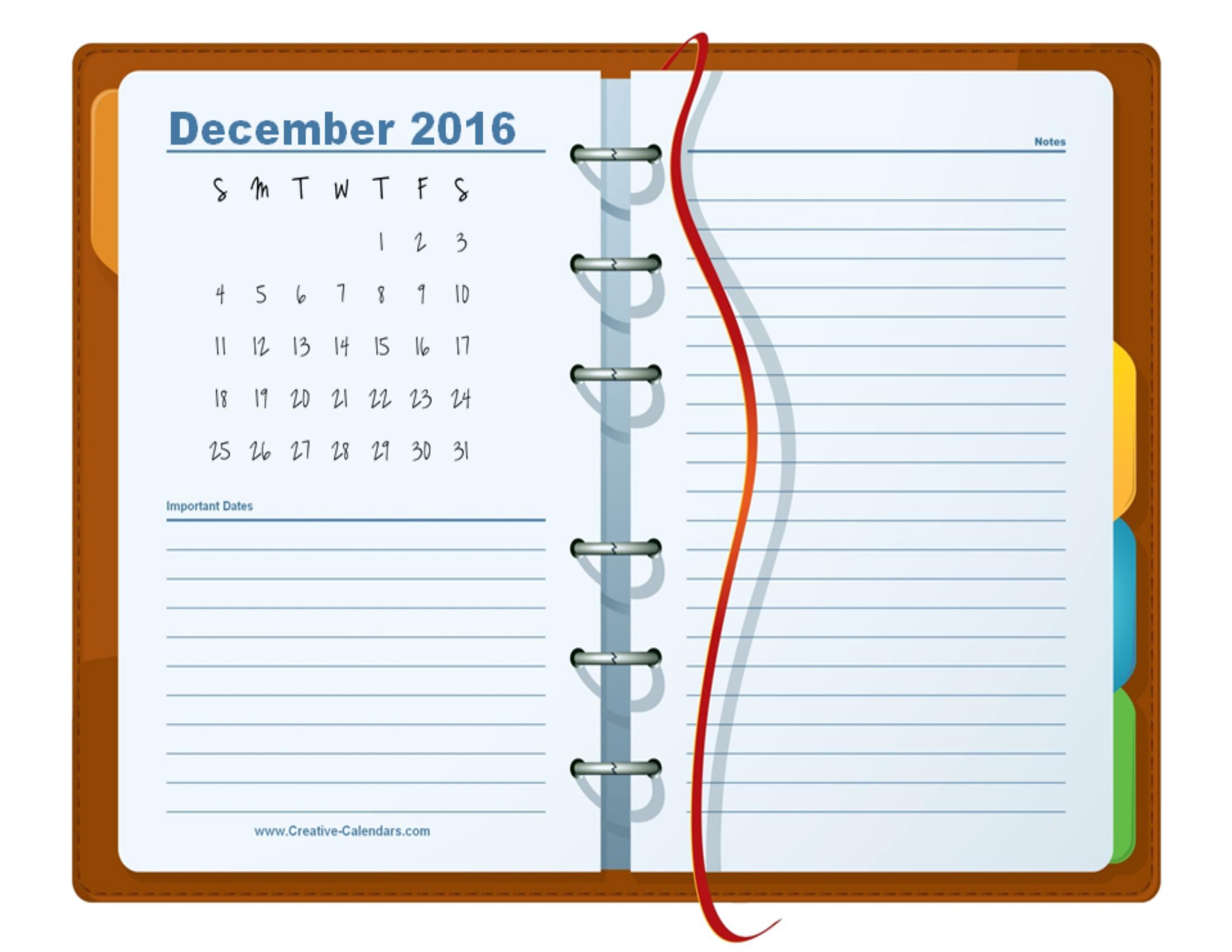 PrintablePlannerDecemberPng   Daily Planning