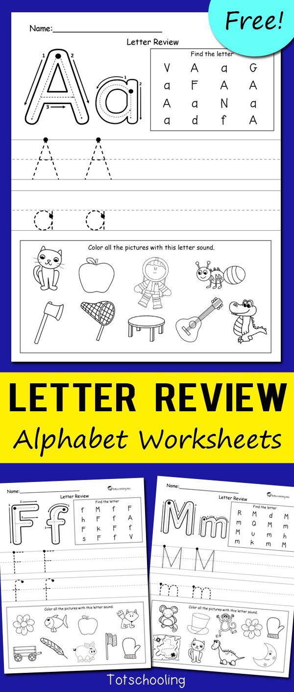 Letter review alphabet worksheets 슈퍼카지노 월드카지노