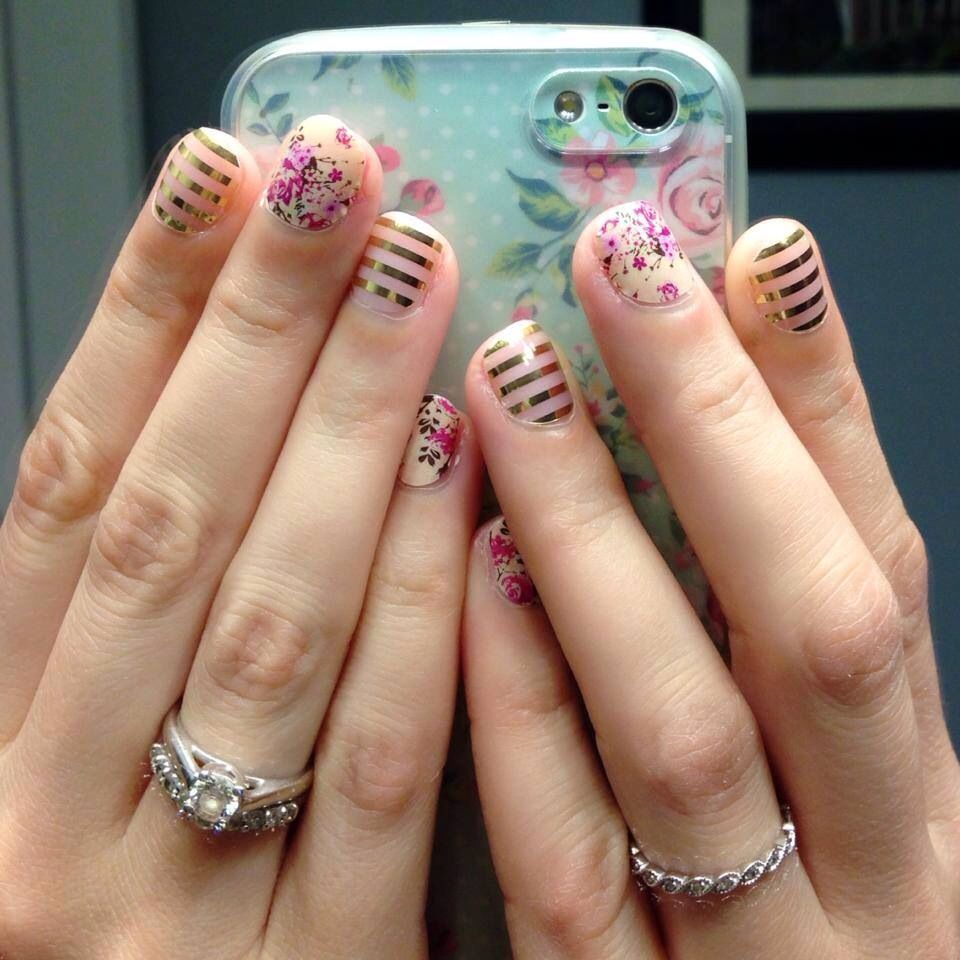 Cute combo! Jamberry Nails - Sweet Symphony and Metallic Gold ...