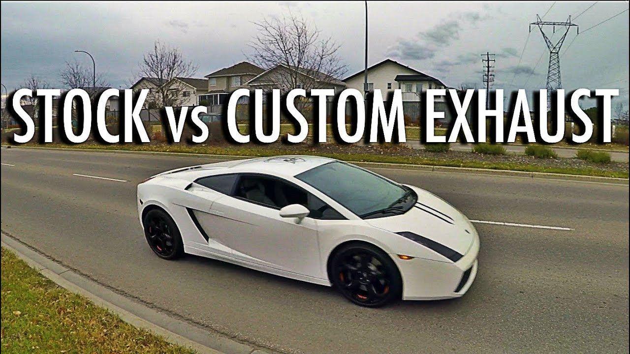 Lamborghini Gallardo Exhaust Upgrade Vs Stock Test Drive V10 Sounds