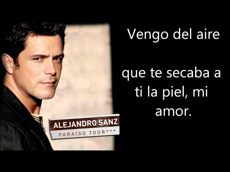 Alejandro Sanz No Me Compares Letra Lyrics Letras De Canciones