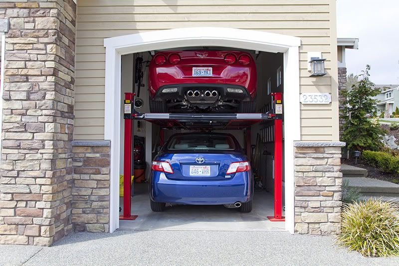 Backyard Buddy 2 Car Lift System Garage Ideas