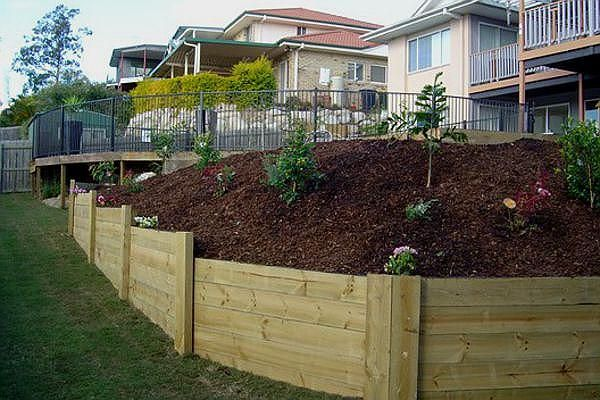 images of retaining wall ideas matter plus retaining wall subject also wooden retaining walls ideas - Timber Retaining Wall Design