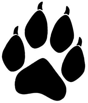 wolf paw print drawings