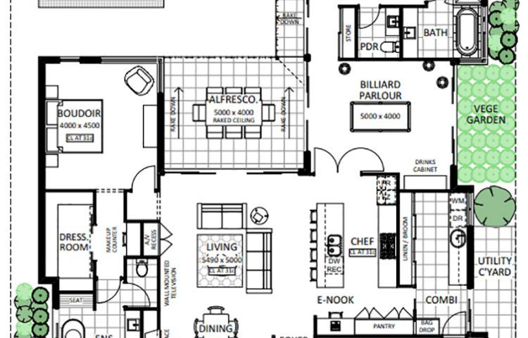 Floor Plan Friday The Pool Is The Showpiece In 2020 Floor Plans Queenslander House House Floor Plans