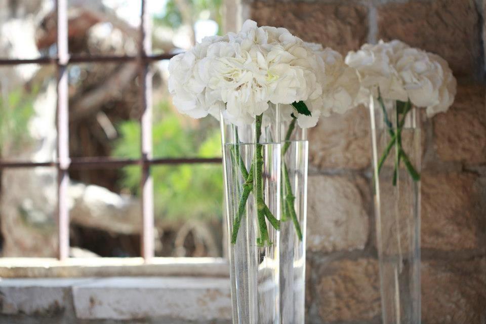 Bijele Hortenzije Glass Vase Glass Vase