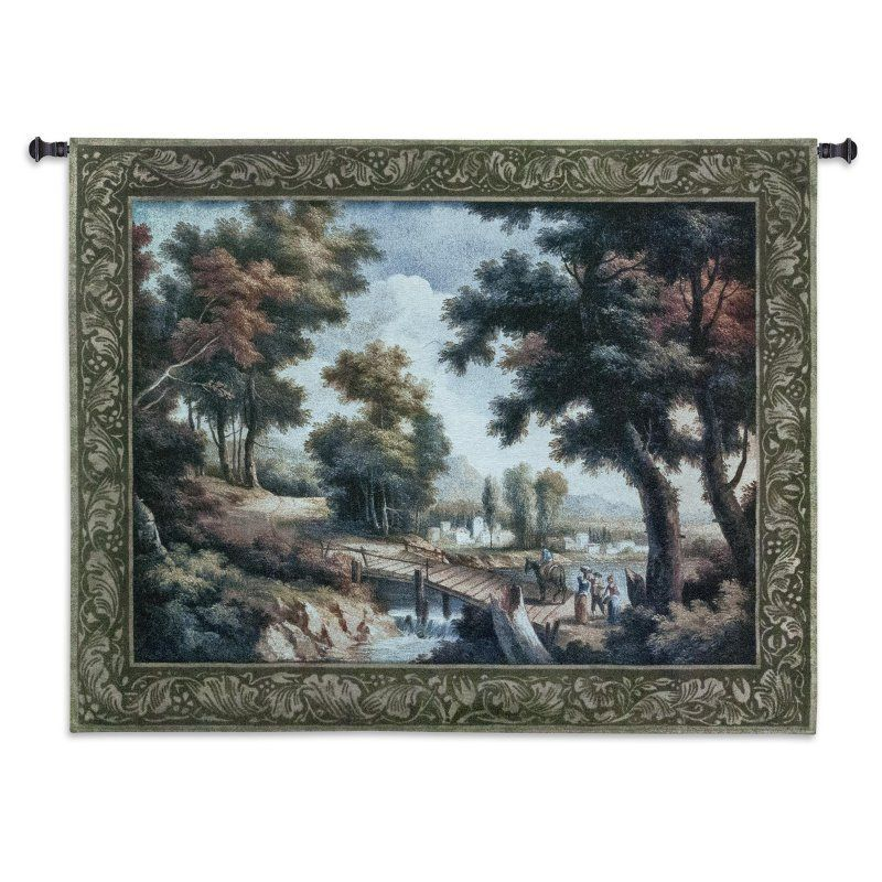 Fine Art Tapestries Early Autumn Crossing Wall Tapestry - 2430-WH