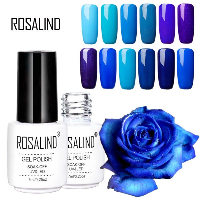 Rosalind Blue Purple Series Nail Polish Gel Long Lasting Soak Off ...