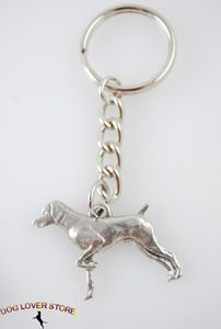 GERMAN POINTER Shorthair Dog Fine Pewter Keychain Key Chain Ring