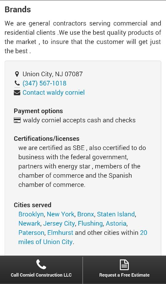 Corniel Construction LLC (cornielconstruc) on Pinterest