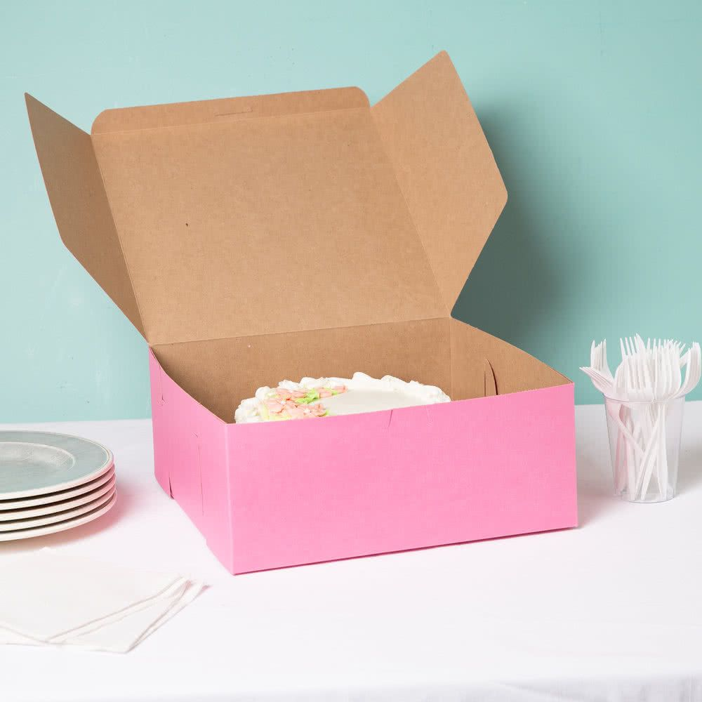 12 x 12 x 5 pink cake bakery box 100bundle