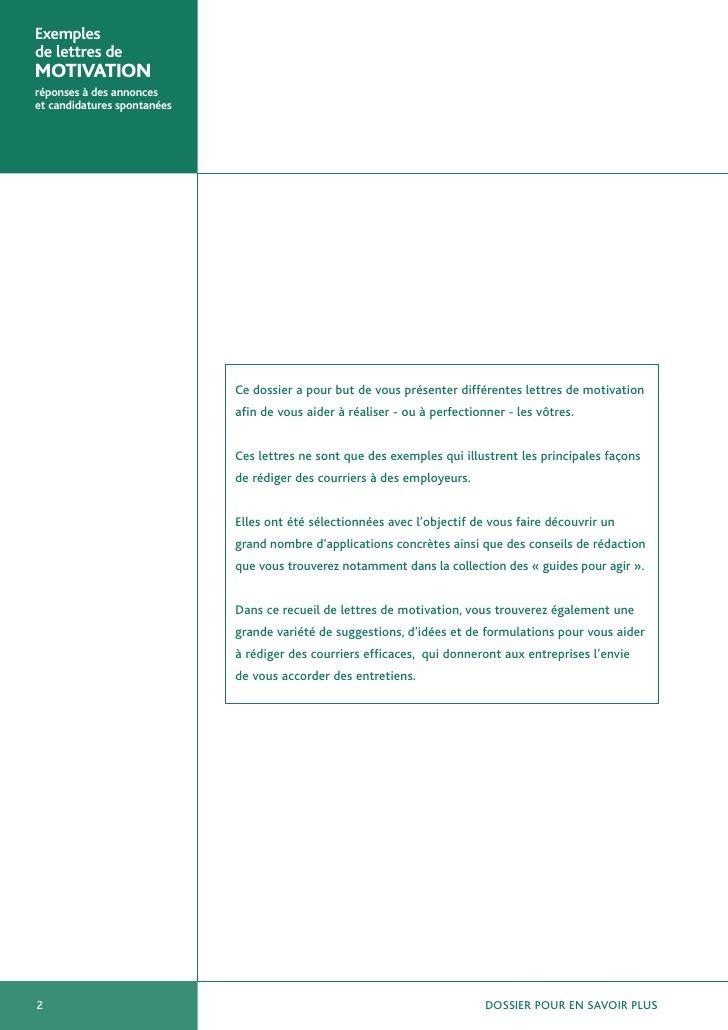 Exemples De Lettres De Motivation Motivation Pie Chart Job