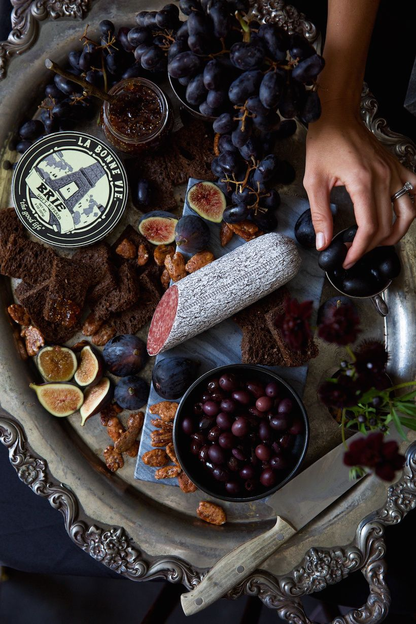a wickedly gorgeous halloween dinner party | cheese, halloween