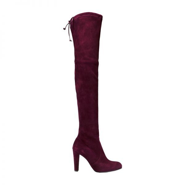 - Made to stand out, a deep burgundy over-the-knee boot is strikingly versatile.