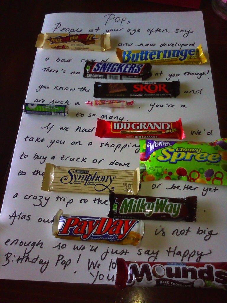 Candy bar poem birthday cardposter for someones birthday best
