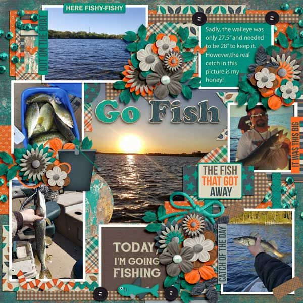 Layout using {Fishing Time} Digital Scrapbooking Bundle http://store.gingerscraps.net/Fishing-Time-Bundle-by-Keley-Designs.html and {Day By Day} Digital Template Grab Bag by Tinci Designs http://store.gingerscraps.net/Day-by-day-1.-Grab-Bag.html