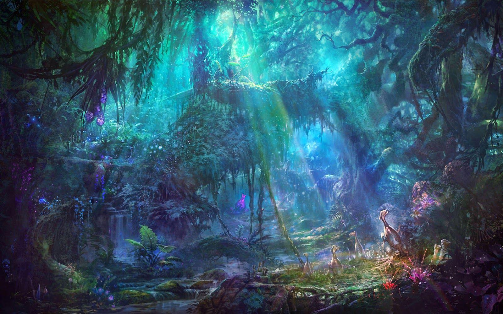 Beautiful Fantasy Wallpapers Fantasy Landscape Fantasy Forest Landscape Wallpaper