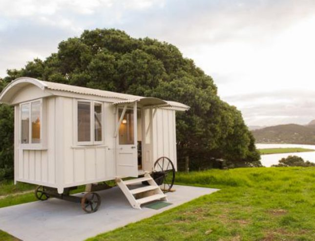 Shepherd's Hut Inspo for Your Fantasy She Shed via Brit + Co