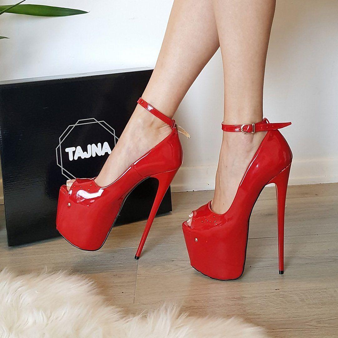 587a1697929 Ped Patent Leather Pump High Heel Platform Shoes - Tajna Club