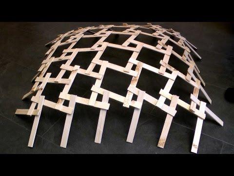 leonardo da vinci wood dome real life construction canti tensegrity structure tensile. Black Bedroom Furniture Sets. Home Design Ideas