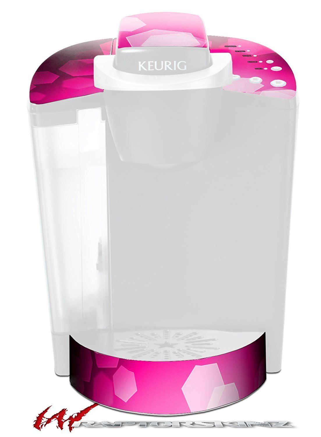 Bokeh Hex Hot Pink Decal Style Vinyl Skin Fits Keurig K40 Elite