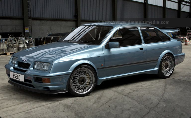 The Ford Sierra Cosworth Rs500 In Moonstone Blue In Road Going
