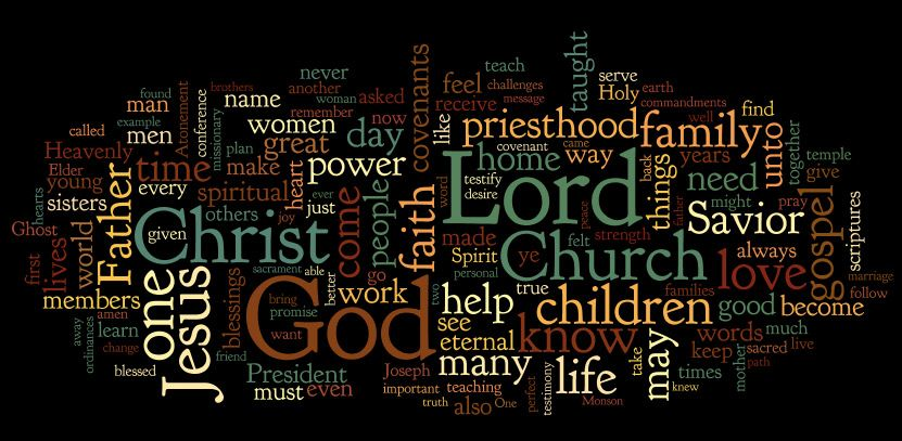 October 2013 General Conference Wordles