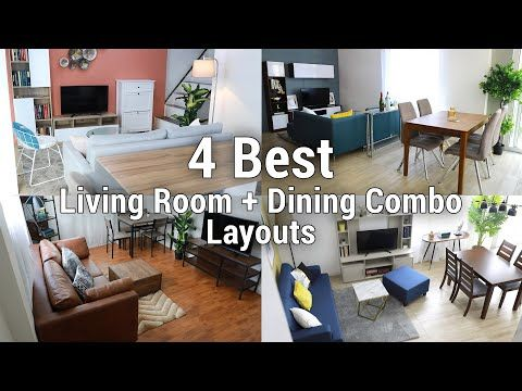 4 Best Living Room Dining Combo Layouts Mf Home Tv Youtube