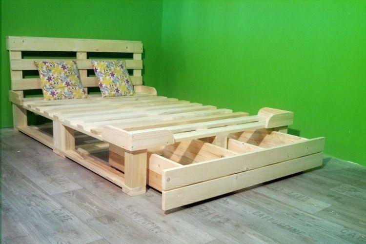Una cama de palets con cajón de almacenaje para toda la vida | Cama ...