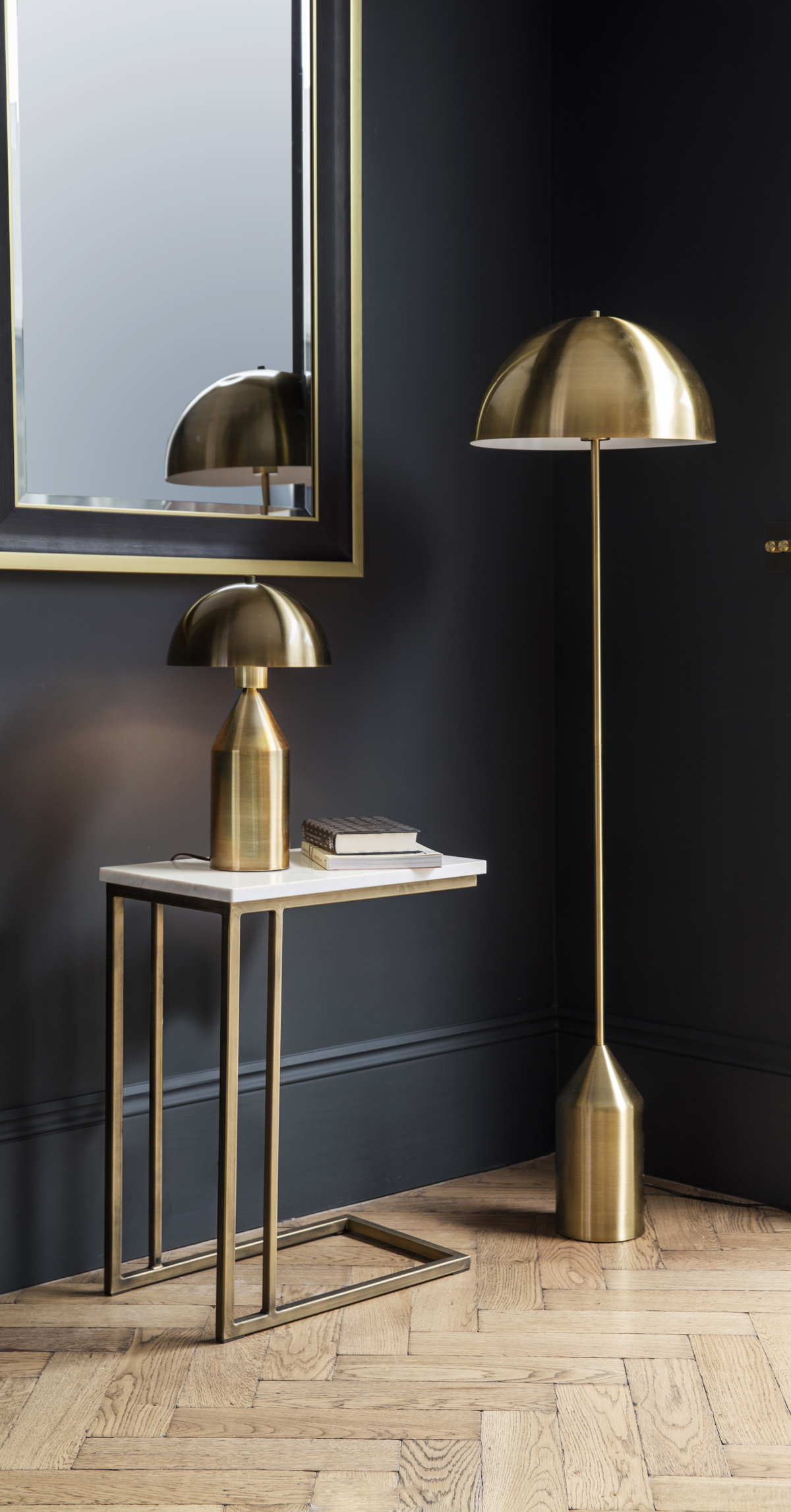 Gorgeous Glam Gold Floor Lamp | Audenza