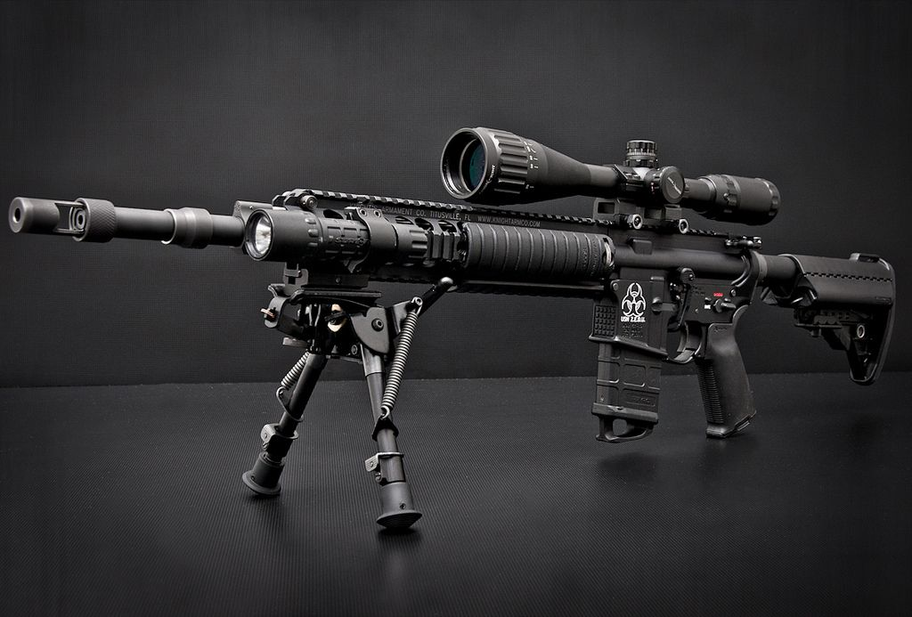 Mk12 Mod1 - long range semi-automatic sniper rifle used by ...