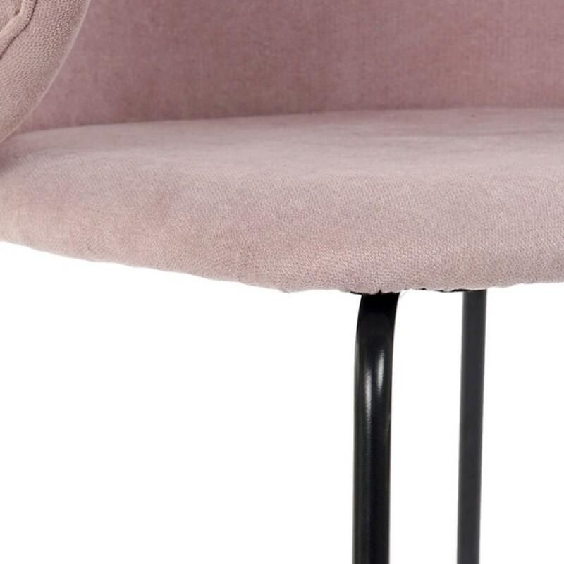 Dining Chair DKD Home Decor Polyester Metal (58 x 58 x 87 cm)