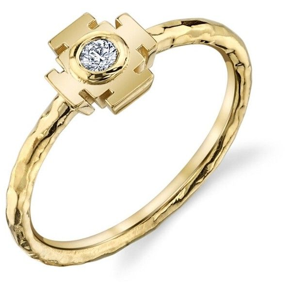 ARK Mini Gateway Ring Yellow Gold $895 ❤ liked on Polyvore
