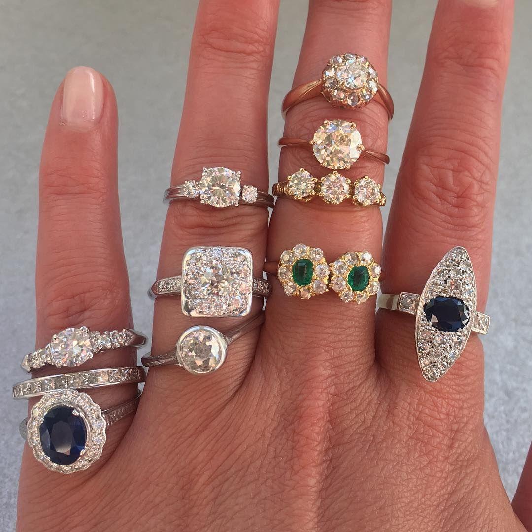 Diamond, sapphire engagement rings fine jewelry (Wedding)
