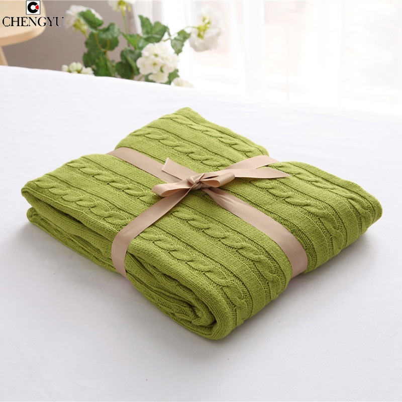 80.00$  Watch here - http://ali2jt.worldwells.pw/go.php?t=32767998943 - 2016 new brand thread blanket pastoral portable home striped knitted rectangle high quality towel blanket spring