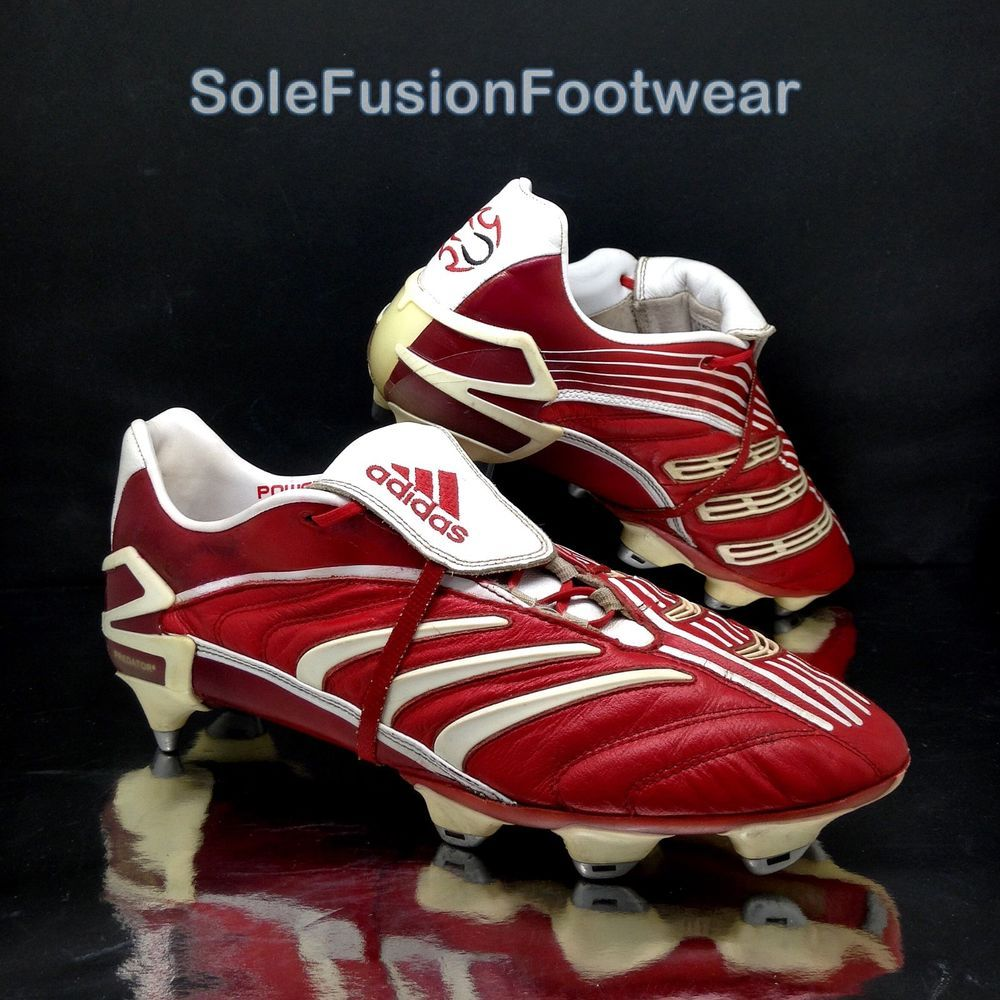 b00aaacc3 adidas Predator Absolute Football Boots Red sz 9.5 PowerPulse Cleats US 10  EU 44