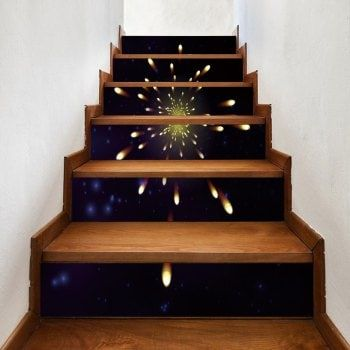 Best Firework Pattern Removable Stair Stickers Stair Stickers 640 x 480