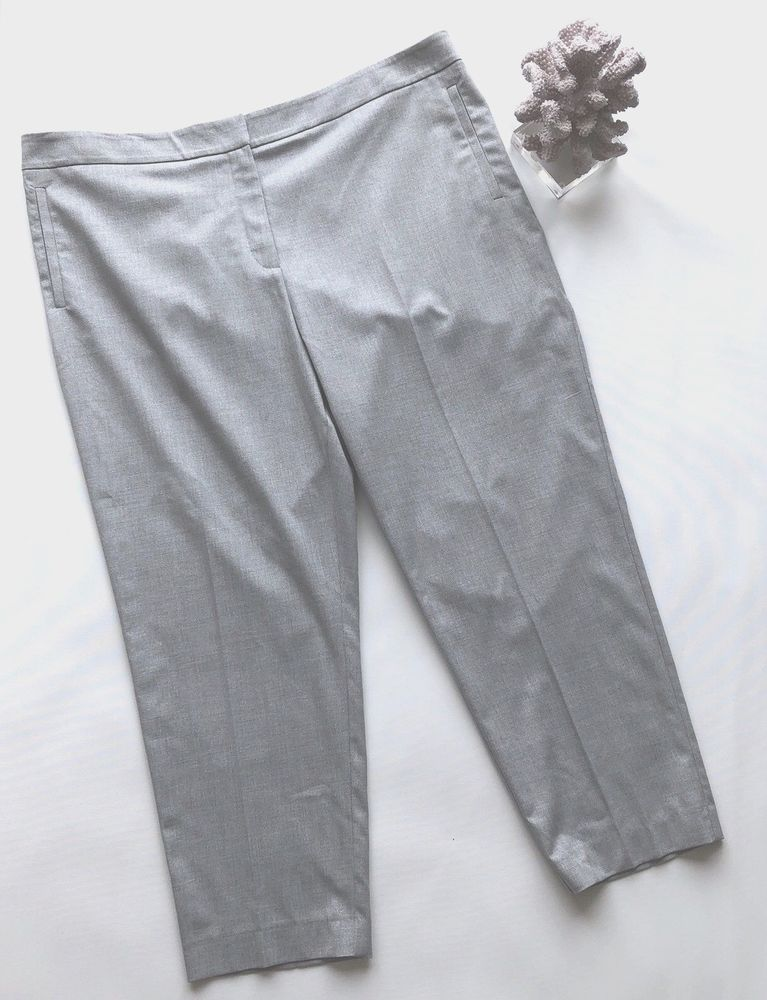 70bbe4a2114 Ladies Silver Grey 7 8 Slim Ankle Trousers UK20 Work Smart Sparkle Gok  forTU  fashion  clothing  shoes  accessories  womensclothing  pants (ebay  link)