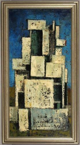Up for sale is vintage 1960 original oil on masonite board - artistic skills