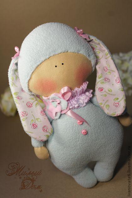 """Текстильная игрушка """"Я зайка"""". Handmade."""
